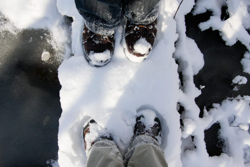 in Rochester New York the snow had fallen and my family went out for a walk