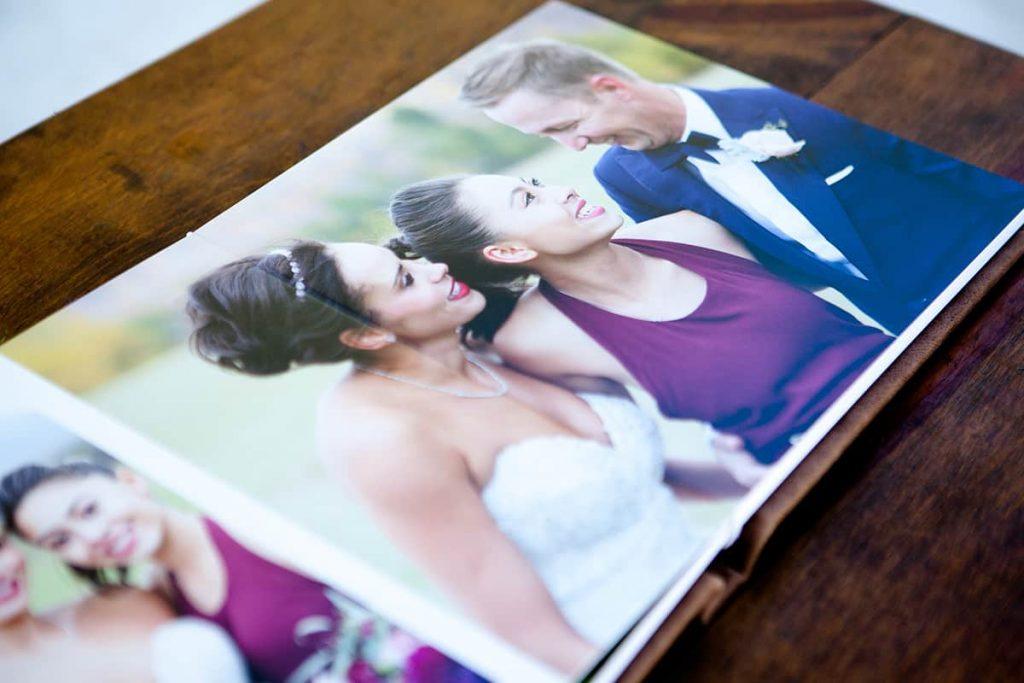 a beautiful portrait inside a wedding album