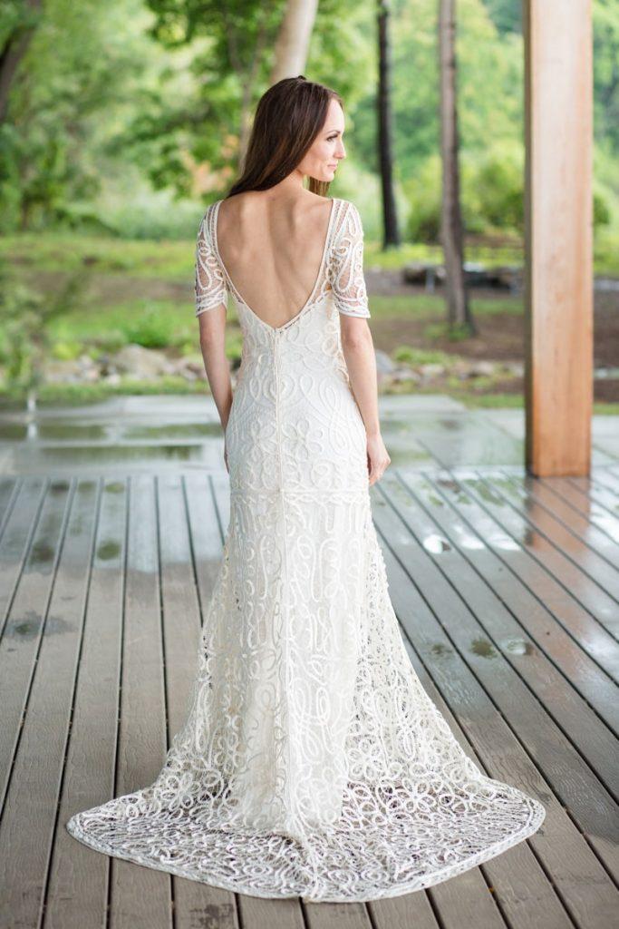 stunning bride in her wedding gown