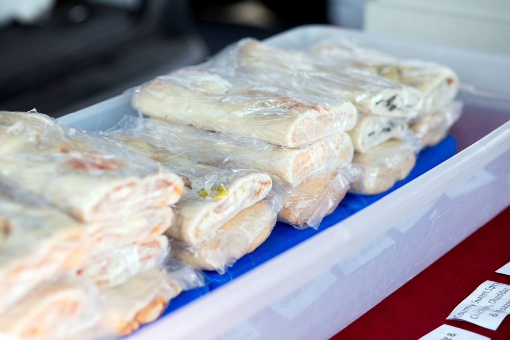 Stuffed breads to buy at the market