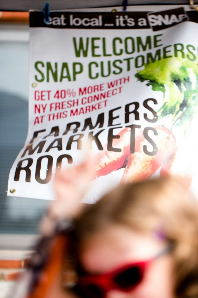 SNAP recipients can use their benefits at the market to buy food