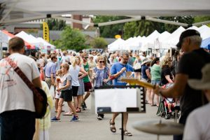 Bands perform at the Brighton Farmer's Market