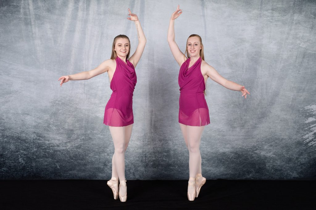 two teenagers in their pointe shoes