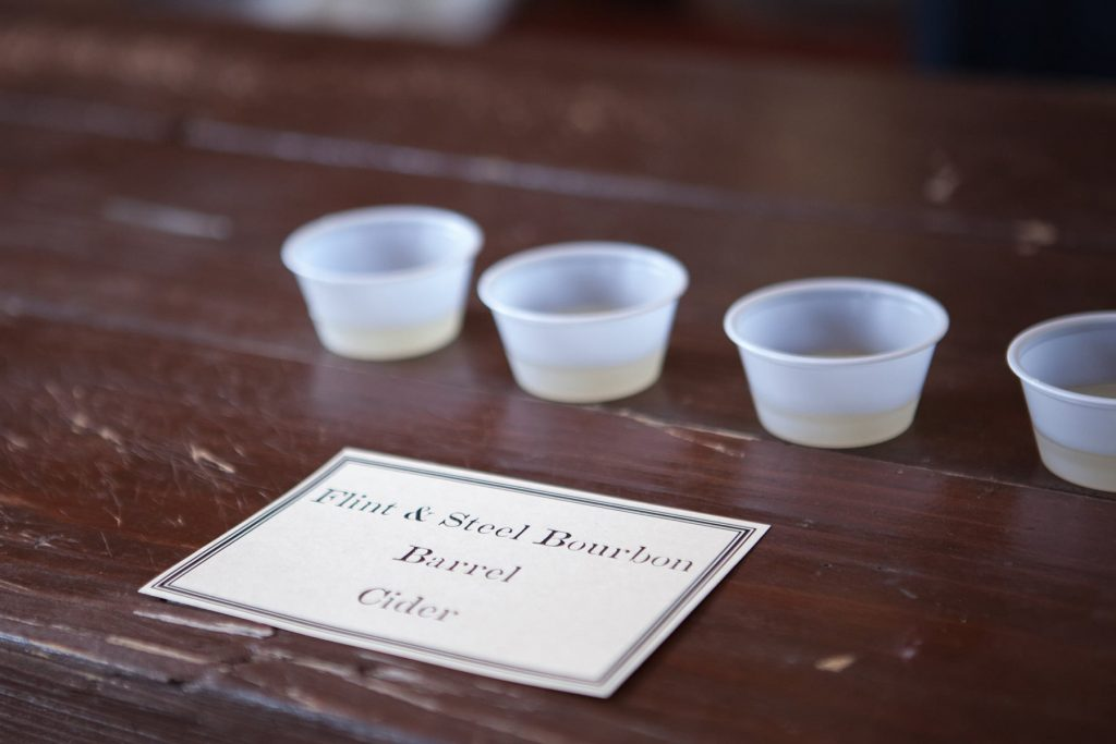 Burbon Barrel Cider samples