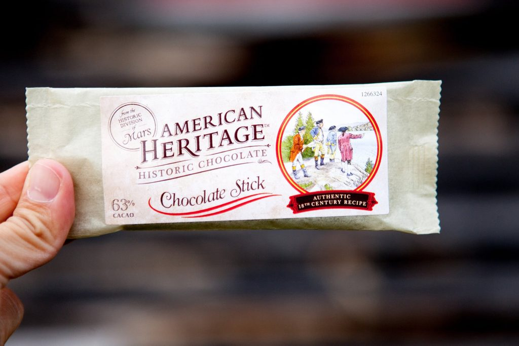 American Heritage Chocolate package available at Genesee Country Village & Museum