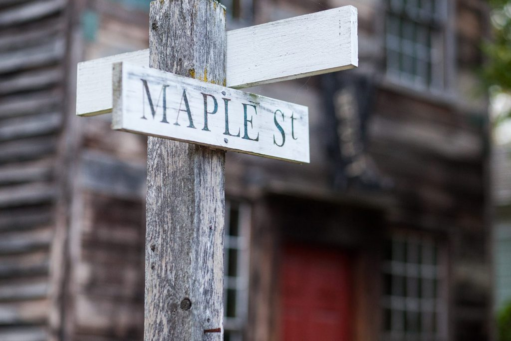 maple street in the museum