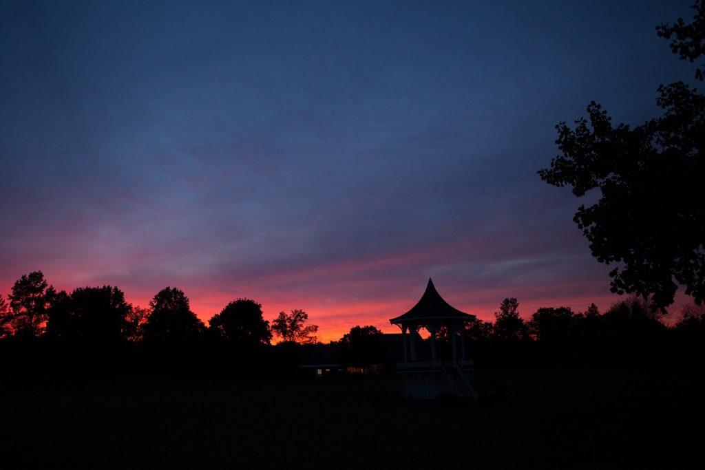 the sunset in Mumford