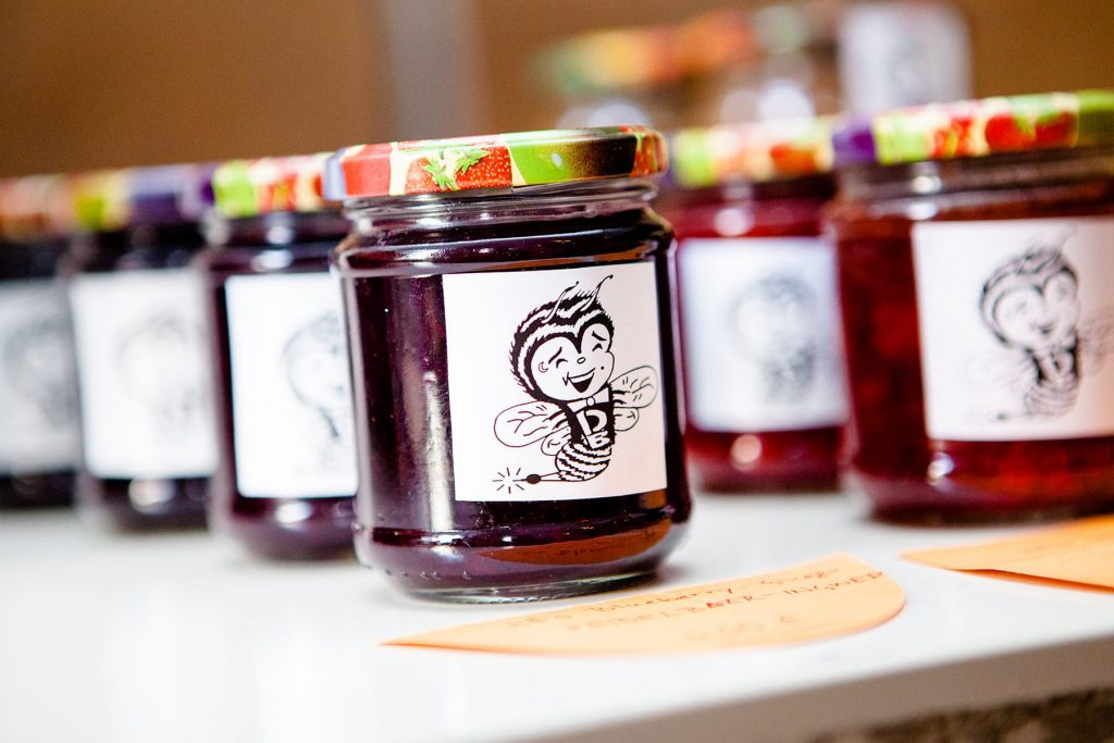 jam and jelly sold in a food co-op