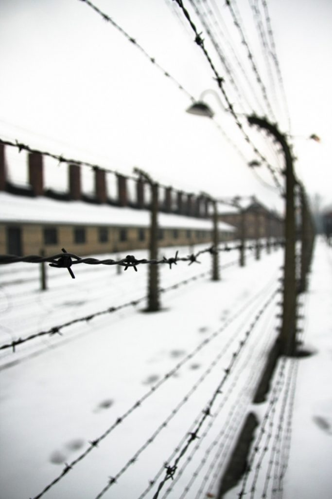 an eerie setting at Auschwitz