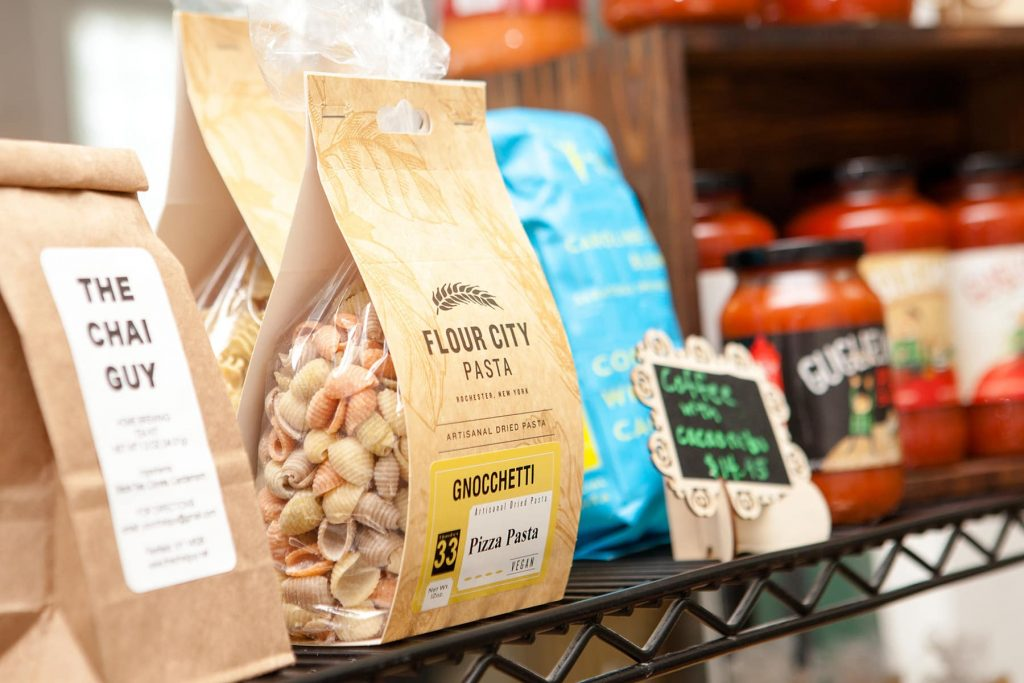 flour city pasta, Gugliemo's Homegrown and the chai guy and cacao Vita