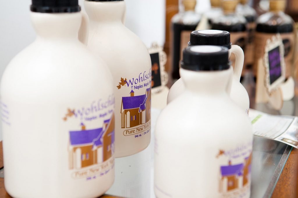 Wohlschlegel's Naples Maple Farm syrup