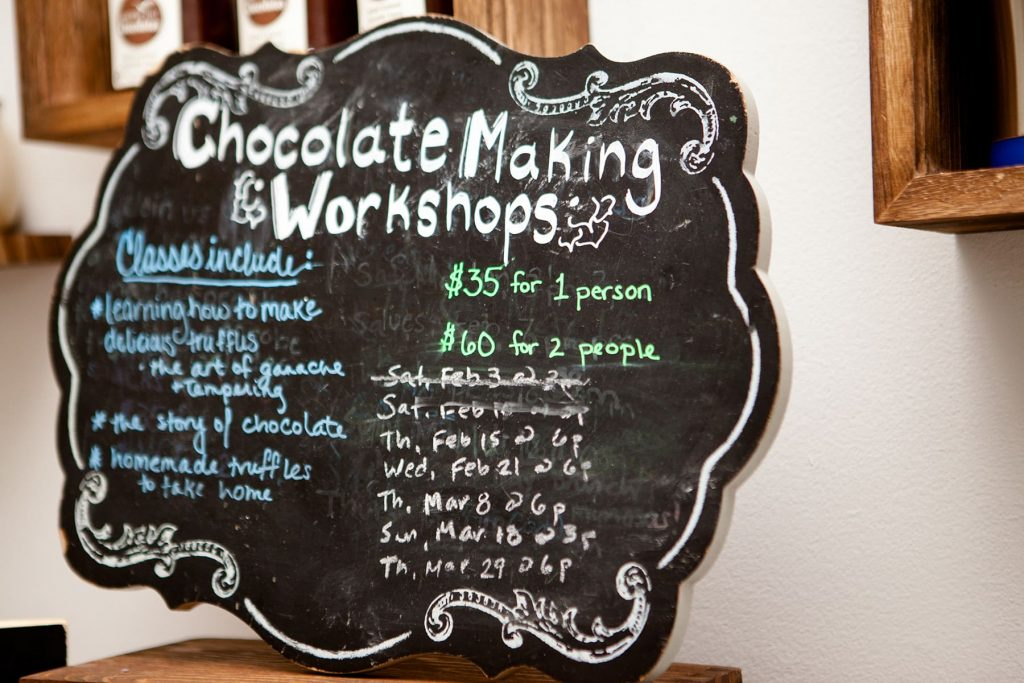 chocolate workshops available in Rochester, NY