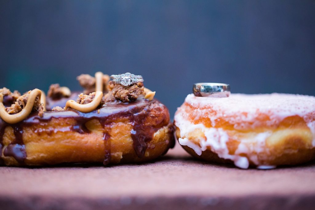 Donuts from a wall created by Boxcar in Rochester NY