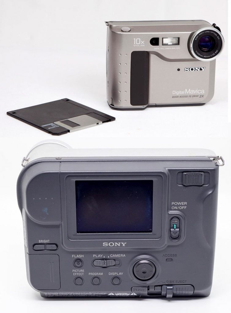sony mavica FD-71 floppy disk camera from the 1990s that was my first camera as a photographer